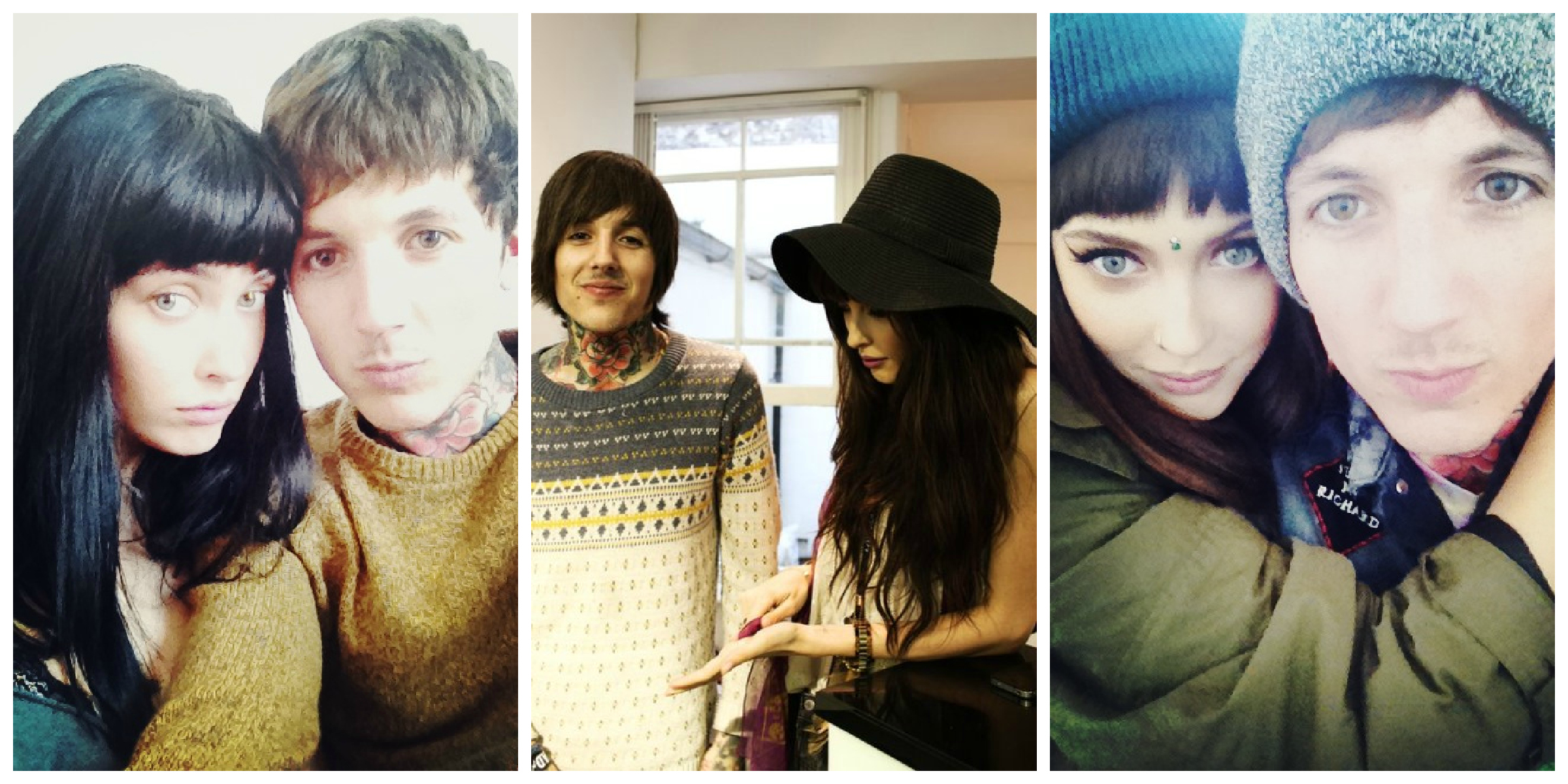 Oli Sykes And Amanda Hendrick 2013